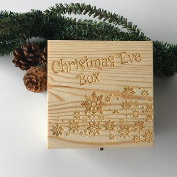 Véspera De Natal De Madeira Caixa Decoração Do Presente Caixa Brinquedos