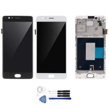OnePlus 3のためのツールでLCDディスプレイタッチスクリーンデジタイザ+フレーム交換