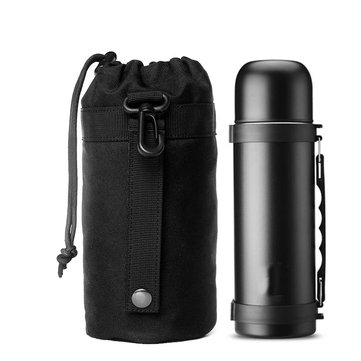 900D Nylon Water Bottle Bag Tactical Military Kettle Bag Camping Hiking Portable Drawstring Bag