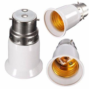 LEDコンバーター電球ランプアダプターB22〜E27ベース