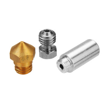 MK10 All Metal Hotend Conversion Kit with 0.4mm Brass Nozzle for 3D Printer 1.75mm Filament