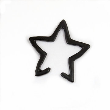 Punk Hollow Star Womens Earring No Piercing Oreja Clip para mujeres Girl Party Costume Jewelry