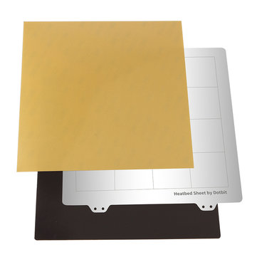 235*235mm Heated Bed Platform Hot Bed Steel Plate with B Side Magnetic Sticker + PEI Sheet for 3D Printer