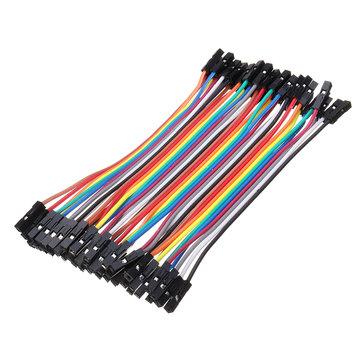2.54mm 11cm Row of 40 Pcs Dupont Cable Jumper Fio 1P-1P Pin Conector Feminino para Feminino
