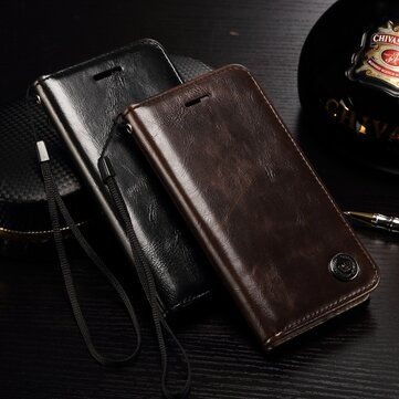 PC Leather Wallet Card Slot Bracket Case For iPhone 7 Plus/8 Plus