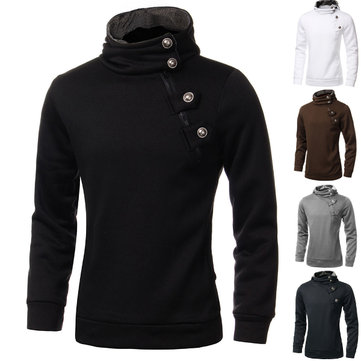 Grande taille slim fit zipper pull sweats hommes