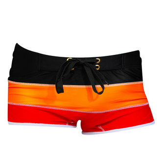 Hombres Trajes de baño Patchwork Trunks Playa Shorts Cordón de malla transpirable Swim Trunks