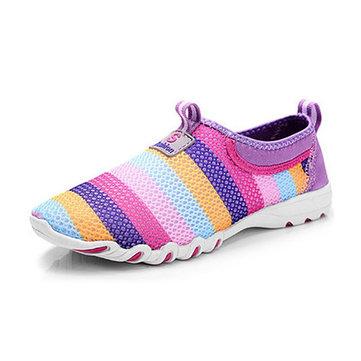 Taille US 5-13 Femmes Chaussures Respirable de Maille Chaussure Douce de Sport Chaussure Slip On à la Mode Avant Bas de Chaussure