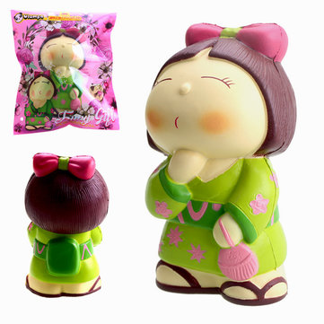 Vlampo AppleBlossoms Squishy Japan Kimono Girl Licensed Slow Rising Original Packaging Collection Gift Decor