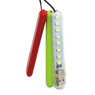 U18 8 x LEDs USB Rechargeable Portable Bar USB Light EDC LED Flashlight Night Light