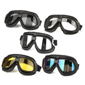 Motorrad-Schutzbrille-Motorrad-Fahrrad-Sturzhelm-Augen-Schutz-Gläser
