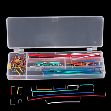 140pcs U Shape Shield Solderless Breadboard Jumper Cable Wires Kit For