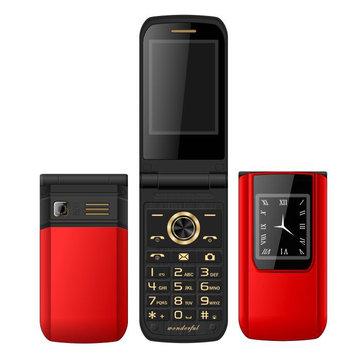 MAFAM E9 2.6 '' 3800mAh Slim Mode Flip Double Écran Tactile Double Carte SIM Dual Standby Feature Phone