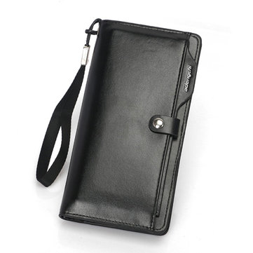 Men Faux Leather Multi Card Slots Wallet Card Holder
