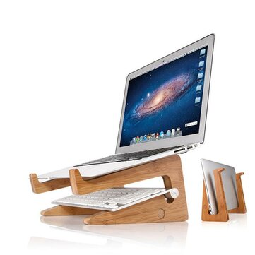 Computer portatile di raffreddamento da tavolo in legno Stand Holder per notebook / laptop / tablet PC / Macbook / iPad