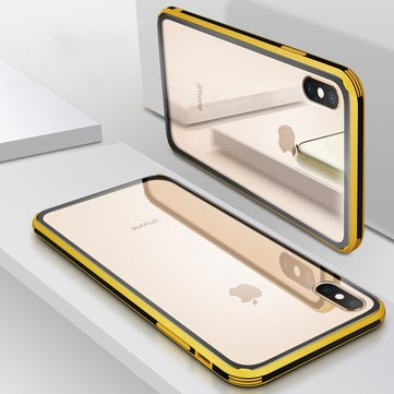 Bakeey Plating Clear Scratch Resistent Glass Modered Caso para iPhone XS Max