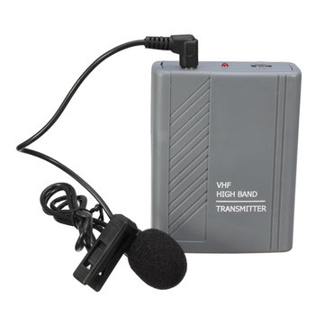 Wireless Meeting Teaching Clip-on Headset Lavalier Microphone MIC Audio Loudspeaker Transmitter Receiver
