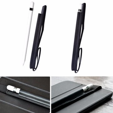 Leather Case Cover Holder Pouch For Apple Pencil iPad Pro 9.7'' 12.9'' Tablet