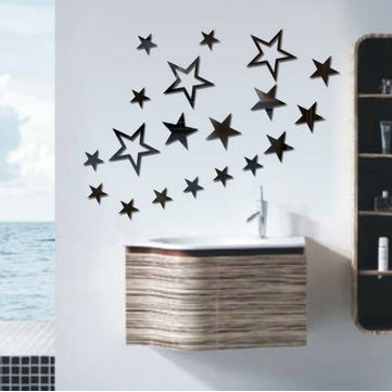 3D Star Multi-color DIY Shape Mirror Wall Stickers Accueil Wall Bedroom Office Decor