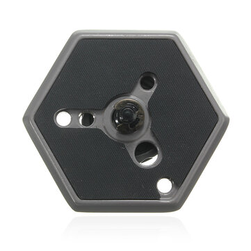 Hexagonal Quick Release Plate with 1/4 Inch Screw For Manfrotto