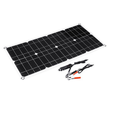 30W 18v 660*280*2.5mm Monocrystalline Solar Panel with Alligator Clip