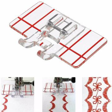 Dikiş Makinesi Paralel Dikiş Dikiş Parçalar Çok İşlevli Yerinde Orta Mini Şeffaf Plastik Paralel Dikiş Ayak Baskı Makinesi