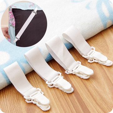 4Pcs Bed Sheet Fixed Grippers Clip Holder Fasteners Set Non-slip Elastic Bed Sheet Buckle