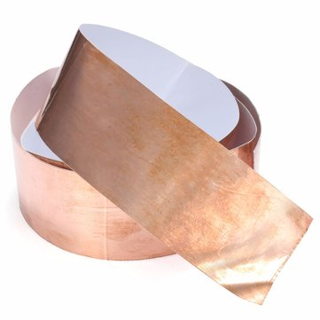 5cm x 1M EMI Copper Foil Shielding Tape 50mmx1m Low Impedance Conductive Adhesive