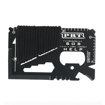 IPRee® 14 in 1 Outdoor EDC Card Tools Kit Camping Emergency Survival Ruler Cutter Opener Wrench