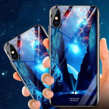 Bakeey Etui de protection en verre trempé éclairant pour iPhone X/XS / XR / XS Max / 8 Plus/7 Plus