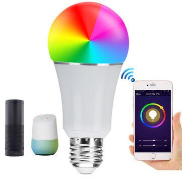 E27 7 W SMD5050 600LM RGBW WIFI APP Contrôle LED Smart Ampoule pour Alexa Google Homme AC85-265V