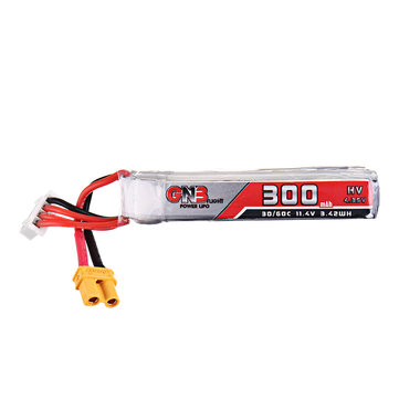 Gaoneng 11.4V 300mAh 30C/60C 3S HV 4.35V Lipo Battery XT30 Plug for Full Speed Tiny Leader Drone