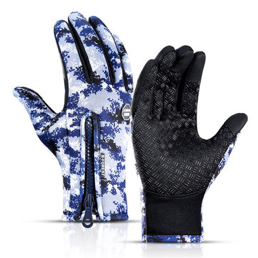 Touch Screen Waterproof Gloves Thick Warm Antiskid Winter Outdoor Sports Waterproof Camouflage