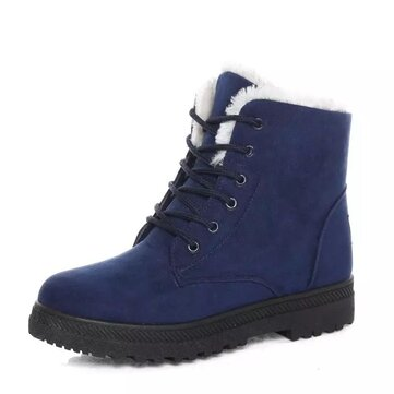 Women's Winter Keep Warm Shoes Snow Boots Fuzzy Waterproof Outdoor Casual Shoes