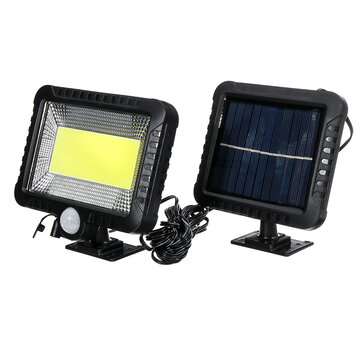 IPRee® COB 100LED 30W 600Lumen IP65 Solar Lamp Outdoor Park Yard Garden Light Camping Light Work Light