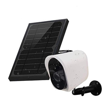GUUDGO Wireless Solar Rechargeable Battery Powered Security IP Camera with Solar Panel, 1080p HD Waterproof Outdoor Home Surveillance with M otion Detection Two Way Audio Night Vision-Work with Alexa
