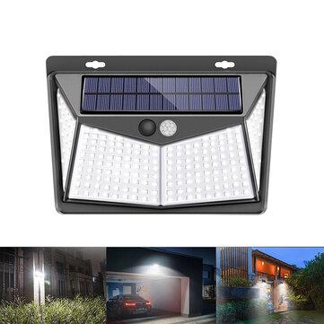 208 LED solare Potenza PIR Sensore di movimento Applique da parete Giardino esterno lampada Impermeabile