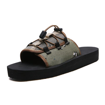 Wild Trend Men's Slippers Camouflage Anti-slip Casual Shoes Beach Shoes One-word Drag