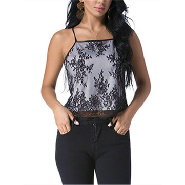 Women Summer Lace Crop Camisole Casual Sleeveless Tank Tops
