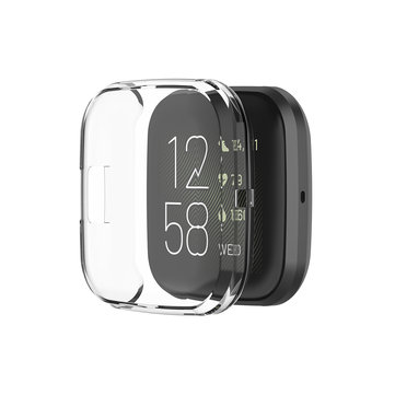 KALOAD TPU Soft Ultra-thin Watch Cover Smart Watch Shell Protector Case Cover for Fitbit Versa 2
