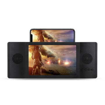 """Foldable 12"""" 3D Enlarged Mobile Phone HD Screen Magnifier Amplifier Stand FM TF Phone Holder"""