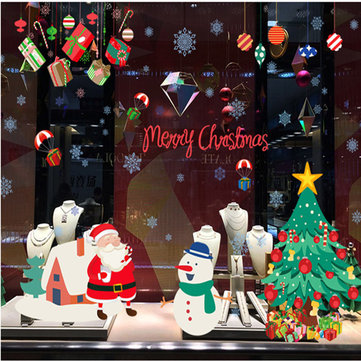 Miico ABQ9706 Christmas Sticker Cartoon Wall Stickers PVC Removable For Room Decoration Christmas Party