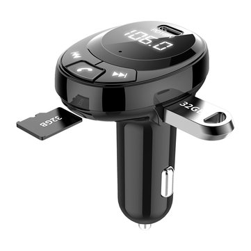 BT09 bluetooth 5.0 Chip Car Charger PD18W Auto MP3 Player Hands-free One-touch Call DC5V Dual USB 3.1A U Disk TF Card