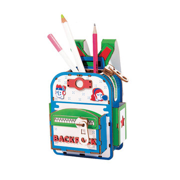 Rolife TG12 Organizador de mesa de madeira Mochila Pen Holder DIY Small Bolsa Model Building