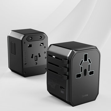 BENKS 3A Fast Charging Multi-function Conversion EU AU UK US Plug Travel Charger Adapter For iPhone X XS HUAWEI P30 Oneplus 7 XAIOMI MI9 S10 S10+